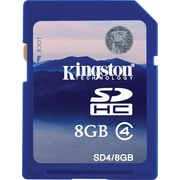 Kingston 8GB SD (SDHC) Card Class 4 Flash Memory Card