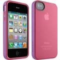 Belkin F8W084ebC02 Grip Candy Case for iPhone4, Pink/Grey