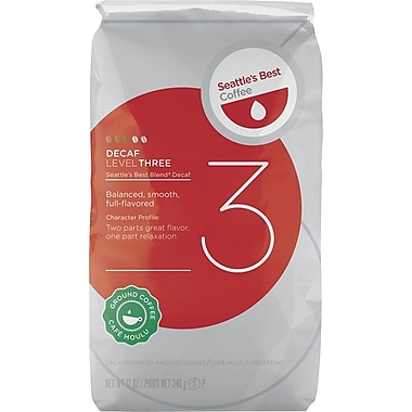 Seattle's Best Coffee® Level 3 Ground Coffee, Decaffeinated, 12 oz. Bag