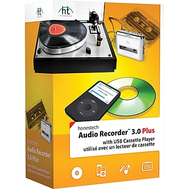 Honestech Audio Recorder 3.0 Plus with USB Cassette Player, Bilingual