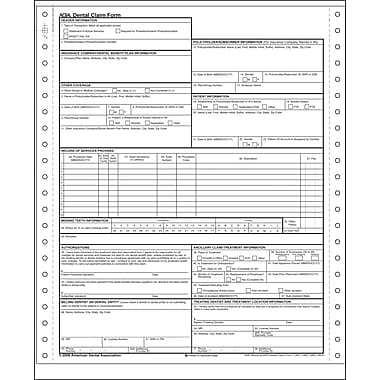 ComplyRight ADA ADA Dental Claim Form, 2-Part Continuous, 1000 Box