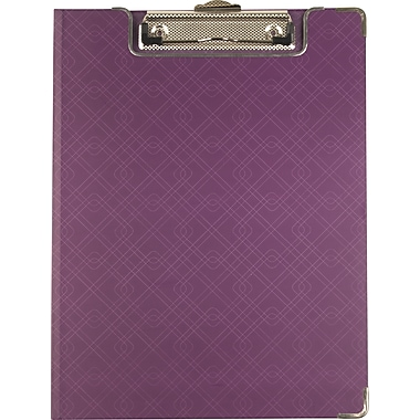Sustainable Earth™ by Staples® Clipfolio, Purple, Letter Size