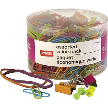 Staples® Essentials Value Pack, Assorted Colors