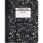 "Staples Composition Notebook, College Ruled, Black, 9-3/4"" x 7-1/2"", Each (40451M-CC)"
