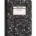 Staples® Composition Notebook, Wide Ruled, Black, 9-3/4in. x 7-1/2in.