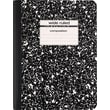 Staples® Composition Notebook, Black, 9-3/4in. x 7-1/2in.