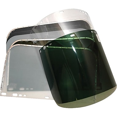 Anchor Brand® Dark Green PETG Face Shield Visor, 9 in (H) x 15 1/2 in (W) x 0.04 in (T)
