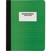 "Staples® Graph Composition Book, 9.75"" x 7.5"" Graph Paper Notebook, Green"