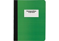 Staples® Composition Notebook, Graph Ruled, Green, 9-3/4' x 7-1/2'