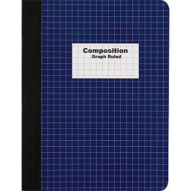 Staples® Composition Notebook, Graph Ruled, Blue 9-3/4in. x 7-1/2in.