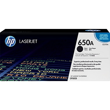 HP 650A Black Toner Cartridge (CE270A)