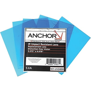Anchor Brand® Clear Polycarbonate Cover Lens, 4 11/16 in, 10 1/2 in (W), 5 5/8 in, 12 7/8 in (L)