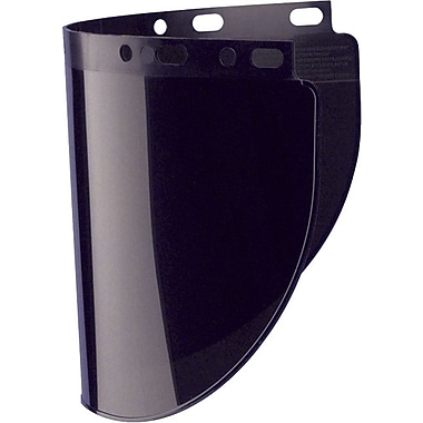 HIGH PERFORMANCE® Dark Green Propionate Face Shield Visor, 8 in (H) x 16 1/2 in (W) x 0.06 in (T)