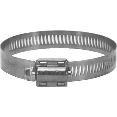 Dixon™ 300 Stainless Steel HSS Worm Gear Drive Hose Clamp, 11/16 - 1 1/4 in