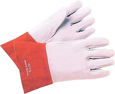 Anchor Brand Soft Split Deerskin TIG Welding Gloves, Large, Pearl Gray 775843