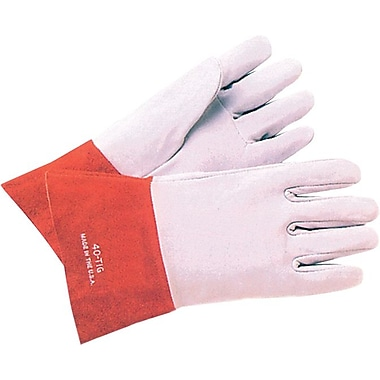 Anchor Brand® Soft Split Deerskin TIG Welding Gloves, Large, Pearl Gray