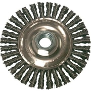 Anchor Brand® CS Stringer Bead Wheel Brush, 4 in (Dia), 0.02 in Wire, 5/8-11 Arbor, POP
