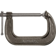Adjustable® Bright Plated Cast Iron 1400 Large Duty C-Clamp, 8 in Nominal Opening, 4 in Throat (D)