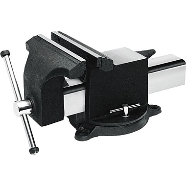 Jorgensen® Cast Iron Style 30000 Heavy Duty Adjustable Bench Vise With Swivel Base, 6 in (W) Jaw