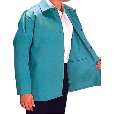 Anchor Brand® Snaps Closure Visual Green Cotton Sateen Jacket, 30 in (L), 3X-Large