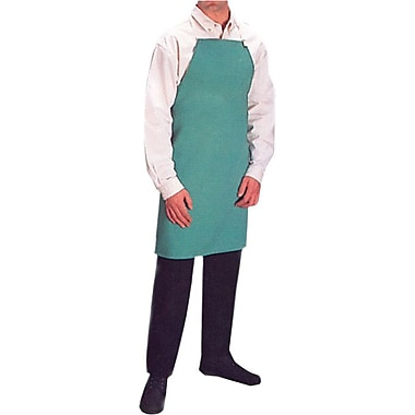 Anchor Brand® 24 in (W) Visual Green Cotton Sateen Standard Bib Aprons