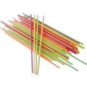 Berkley Square Assorted Neon Stirrers / Sipper Straws, 1,000/Pack