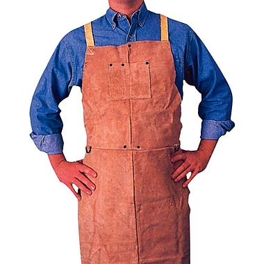 Anchor Brand® Golden Brown Leather Standard Bib Apron, 48 in (L), 24 in (W)