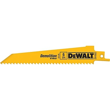 DeWalt® Bi-Metal Demolition Taper Back Reciprocating Saw Blade, 1 in (W), 14 TPI