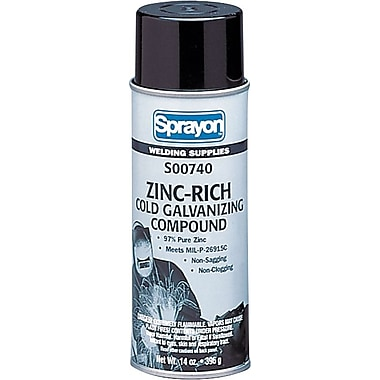 Sprayon™ WL™ Medium Gray Zinc-Rich 740 Cold Galvanizing Compound, 14 oz Aerosol Can