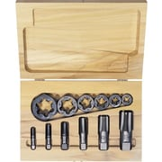 HANSON® High Carbon Steel 12 pcs Pipe Tap And Hexagonal Re-Threading Die Set