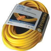 Polar/Solar® T*Prene® Tri-Source® TPE Jacket SJEOW 3 Way Extension Cord, 12/3 AWG, 25 ft (L)
