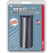 MAG-Lite® Black Leather Plain Holster, For Used With Mini Maglite® 2 AA Flashlights
