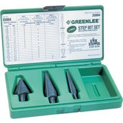 Kwik Stepper® Oxide Coated HSS 3 pcs Step Drill Bit Kit, Includes #1, #3 And #8