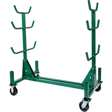 Greenlee® Mobile Conduit/Pipe Storage Rack, 58 1/2 in (L) x 34 in (W) x 19 - 63 1/2 in (H), 1000 lb