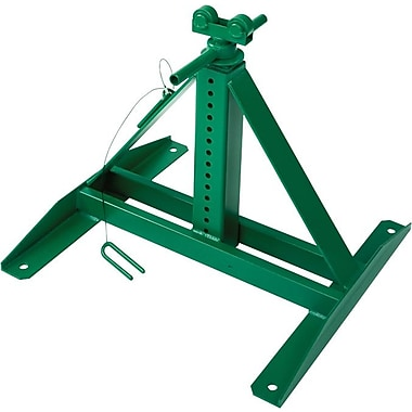 Greenlee® Screw Jack Reel Stand, 24 in (L) x 21 in (W) Base, 22 - 54 in (H), 2500 lb