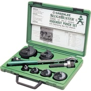 Slug-Buster® Manual Knockout Punch Kit With Ratcheting Box End Wrench, 0.89 - 2.42 in Hole