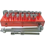 Pony® Chrome Plated Vanadium Steel Standard Socket Set, 3/4 in Square Drive, 21 pcs
