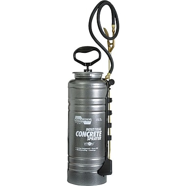 Tri-Poxy® Brass Fan Spray Nozzle Steel Pressurized Tank Open Head Concrete Sprayer, 3 1/2 gal