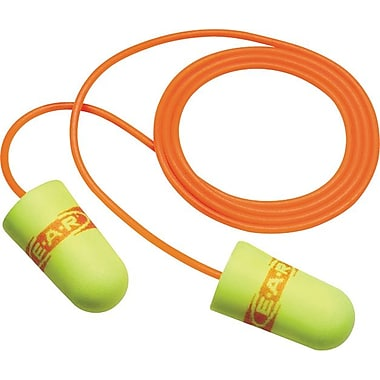 E-A-R SuperFit 33™ Yellow Polyurethane Corded Earplug, 30 dB, 200 Pairs/Box