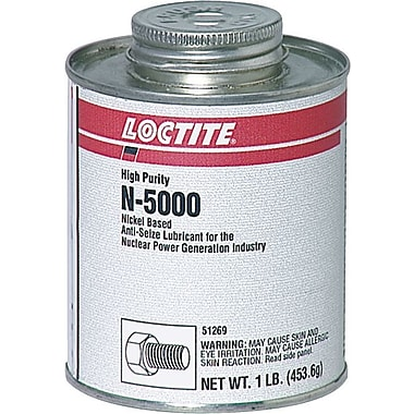 Loctite N-5000™ Gray Paste High Purity Anti-Seize Lubricant, 1 lb Brush Top Can