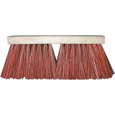 Magnolia Hardwood Handle Dyed Palmyra Stalk Bristle Street Push Brush