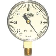 Dixon™ ABS Plastic Vacuum Gauge, 30 in Hg Max, 2 in Dial, 1/4 in NPT LM