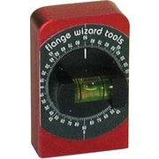 Flange Wizard® Anodized Aluminum Body Combination Degree Level, 2 3/8 in (L) x 1 1/2 in (W)