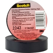 Scotch® Black Rubber Backing Linerless Insulating Electrical Tape, 3/4 in (W), 15 ft (L), 30 mil (T)