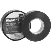 3M Highland™ Black PVC Backing Commercial Grade Electrical Tape, 3/4 in (W), 66 ft (L), 7 mil (T)