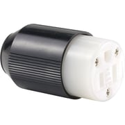 Auto-Grip™ Black/White Nylon Body Connector, 1/4 - 0.656 in Conductor, 125 VAC, 15 A