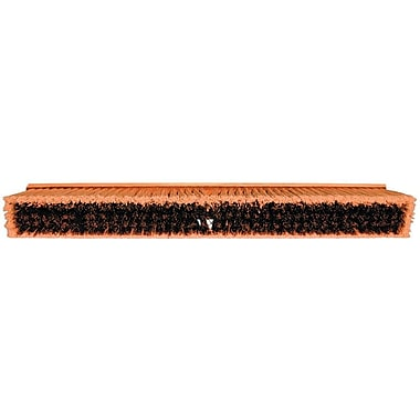 Magnolia M-60 Hardwood Handle Coarse Brown Plastic Bristle No. 35 Line Floor Brush