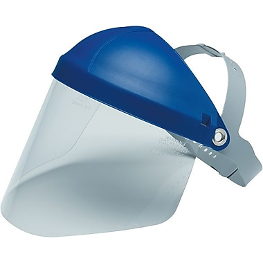 AO Tuffmaster® Clear Polycarbonate Face Shield Visor, 9 in (H) x 14 1/4 in (W) x 0.08 in (T)