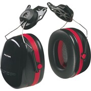 Peltor® Optime 105 Dual Cup Earmuff, Black/Red, 26 dB