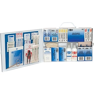 Pac-Kit® Steel 2-Shelf, Industrial First Aid Station, 10 1/4 in (L) x 15 in (W) x 5 in (H)